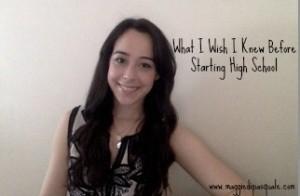 Maggie- Starting High School