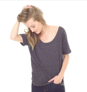 Example of slouchy tee fit